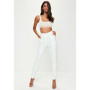 NWT white button detail skinny cigarette pants